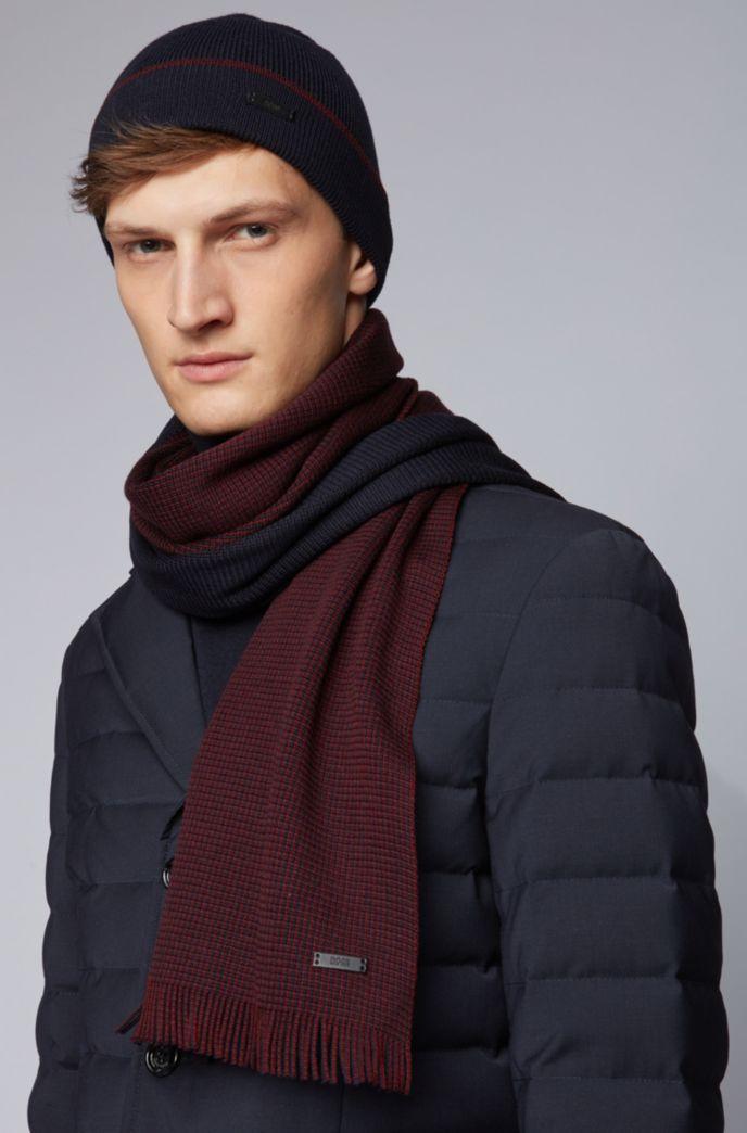 Set con cappello e sciarpa in puro cashmere