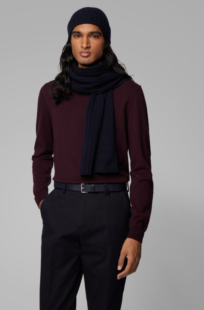 Hat and scarf set in pure cashmere