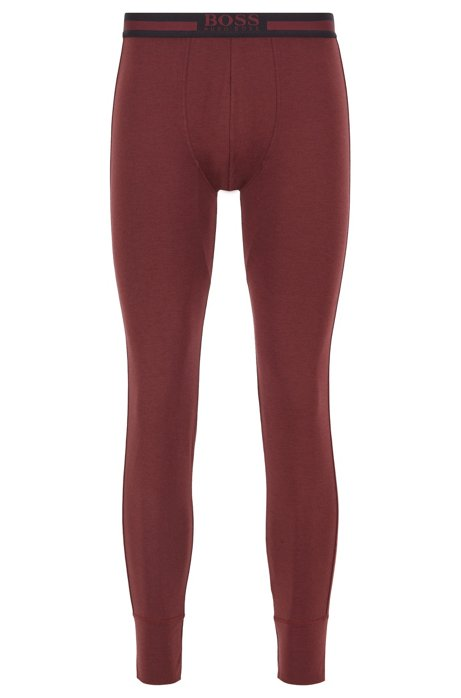 Regular-rise long johns in heat-retaining stretch fabric, Dark Red