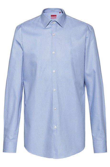 Slim-fit overhemd met een all-over textuur, Bedrukt