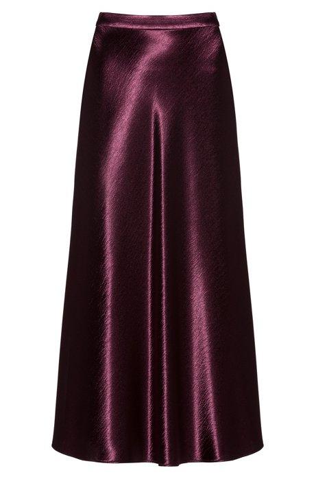 Falda regular fit de tejido reluciente, Púrpura oscuro