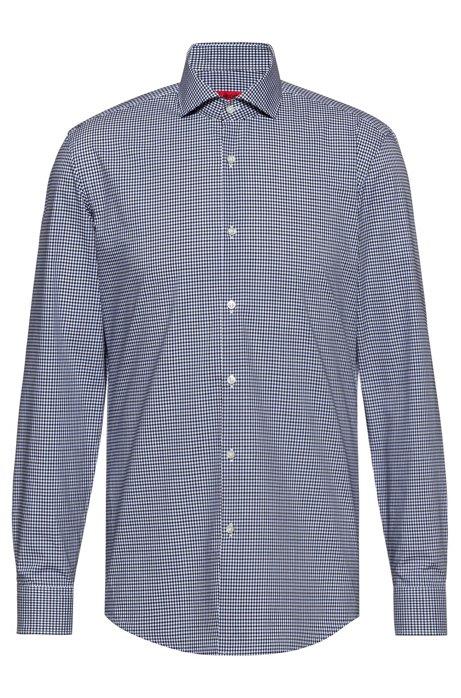 Chemise à carreaux Slim Fit en coton facile à repasser, Fantaisie