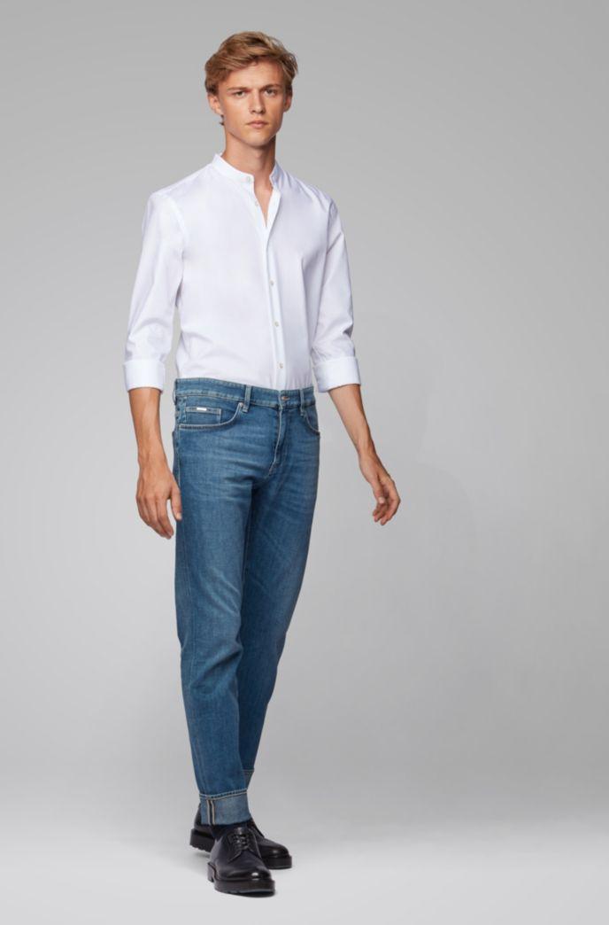 Jeans slim fit in denim italiano effetto cashmere