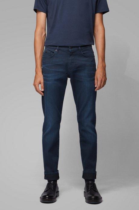Slim-fit jeans van donkerblauw stretchdenim, Donkerblauw