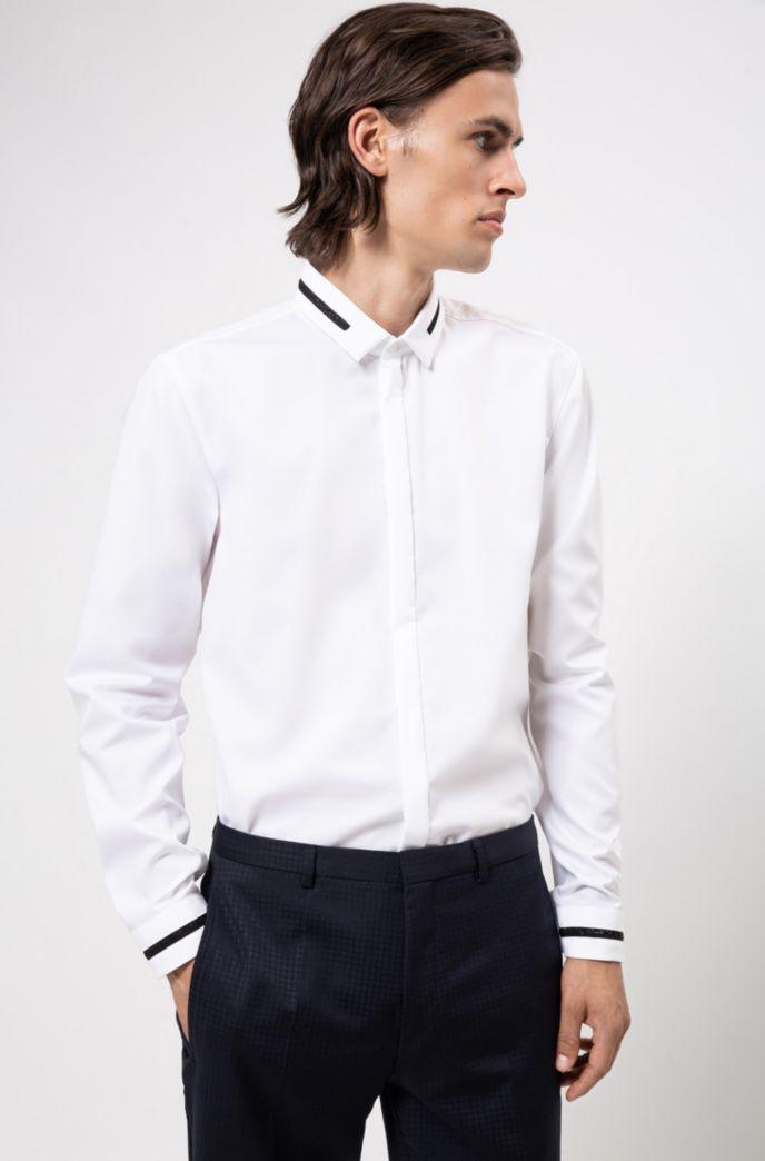 Extra Slim-Fit Hemd aus Baumwolle mit Stardust-Tapes