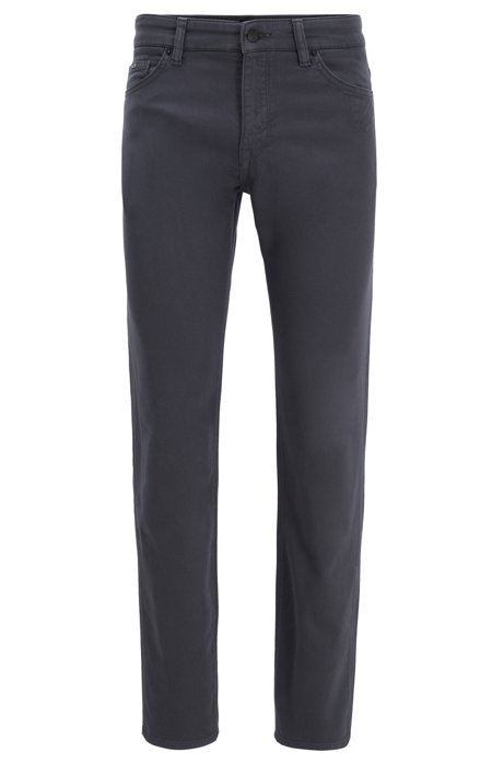 Regular-fit jeans in cotton-blend stretch terry, Grey
