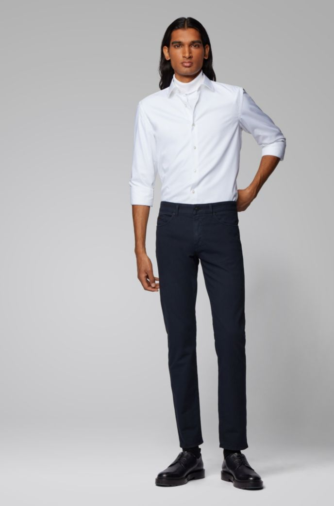 Slim-fit jeans in Italian denim with 3D structure