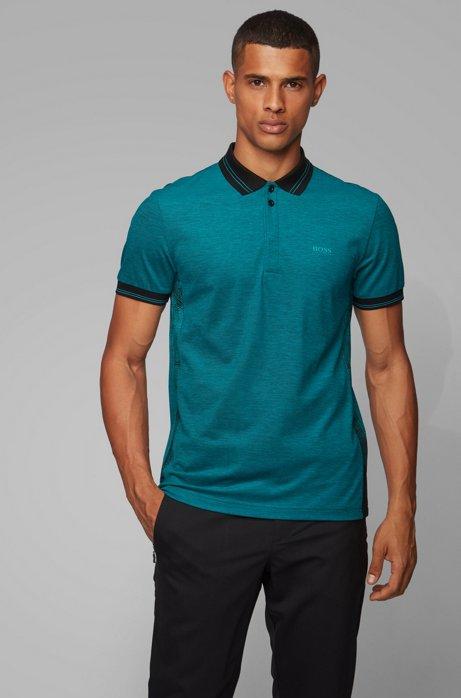 Slim-fit polo shirt with seasonal artwork, Blue