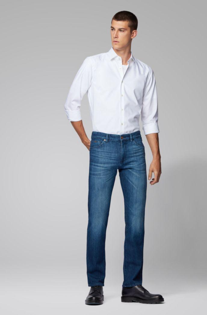 Regular-Fit Jeans aus italienischem Stretch-Denim
