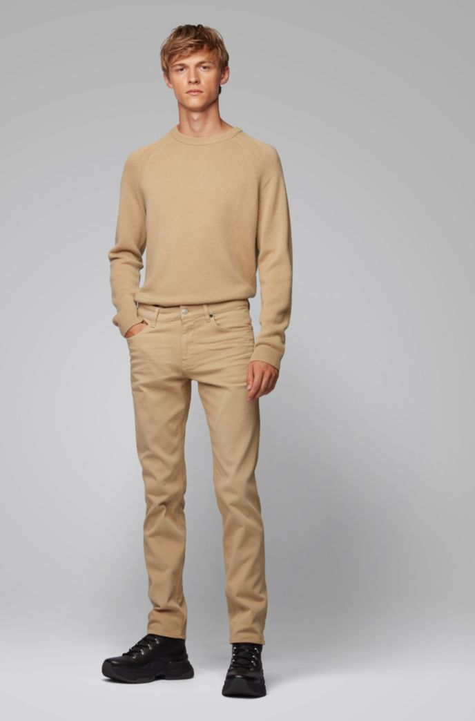 Slim-fit jeans van Italiaans denim met een kasjmierfeel