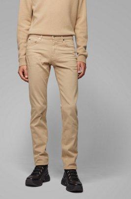 Slim-Fit Jeans aus besonders softem italienischem Stretch-Denim, Beige