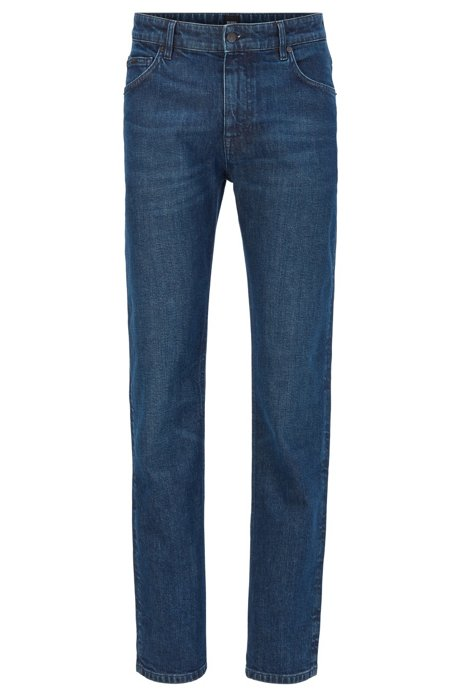 Relaxed-Fit Jeans aus ringgesponnenem Stretch-Denim, Dunkelblau