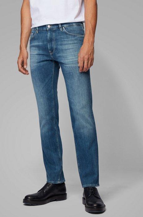 Regular-fit jeans van superzacht stretchdenim, Blauw