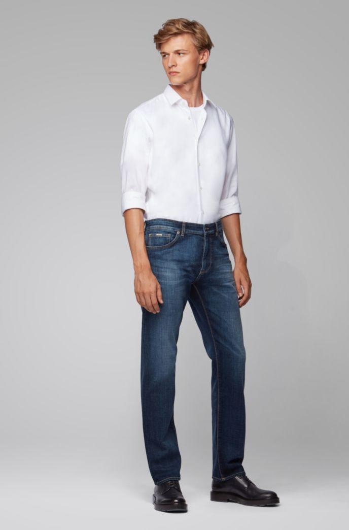 Regular-Fit Jeans aus besonders softem italienischem Denim