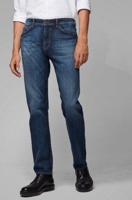 Regular-Fit Jeans aus besonders softem italienischem Denim, Blau