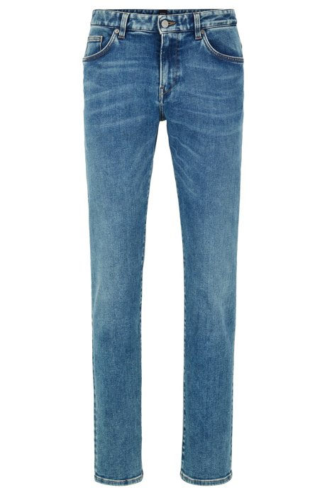 Slim-fit jeans in Italian stretch denim , Blue