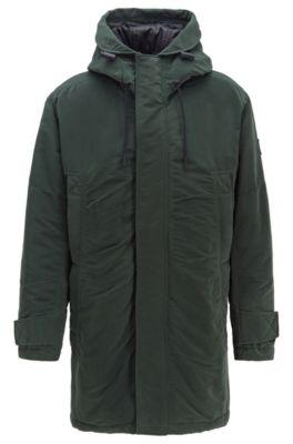 Relaxed-Fit Jacke aus gewachstem Gewebe mit PrimaLoft®-Füllung, Grün