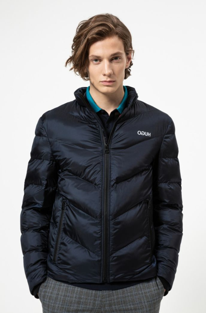Regular-fit jacket with recycled filling