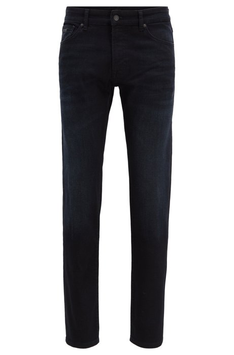 Regular-Fit Jeans aus komfortablem Stretch-Denim, Dunkelblau