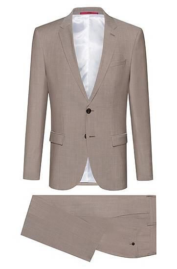 hugo  Costume Slim Fit en laine vierge texturée Slim fit Coupe longueur... par LeGuide.com Publicité
