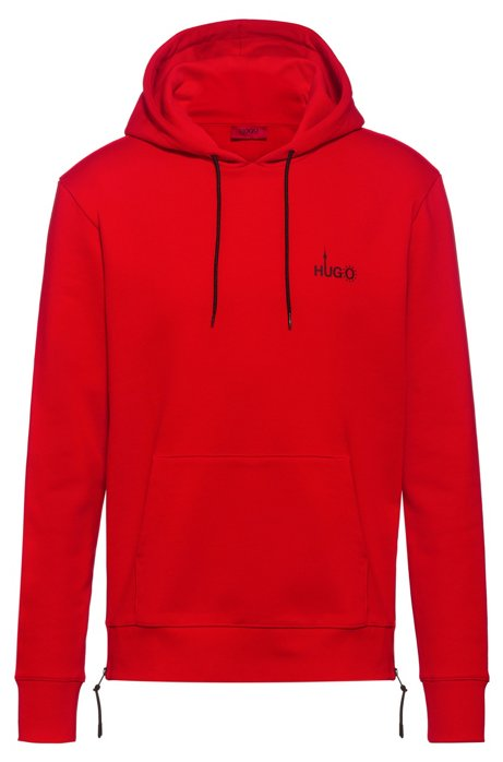 Relaxed-fit sweatshirt with Berlin-inspired artwork, Red