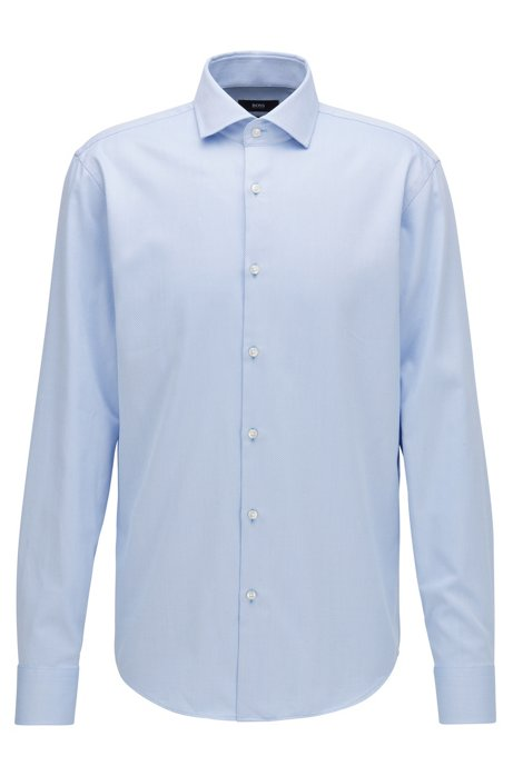 Chemise Regular Fit en coton structuré, Bleu vif