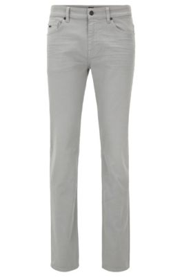 Slim-fit jeans in overdyed comfort-stretch denim, Grey
