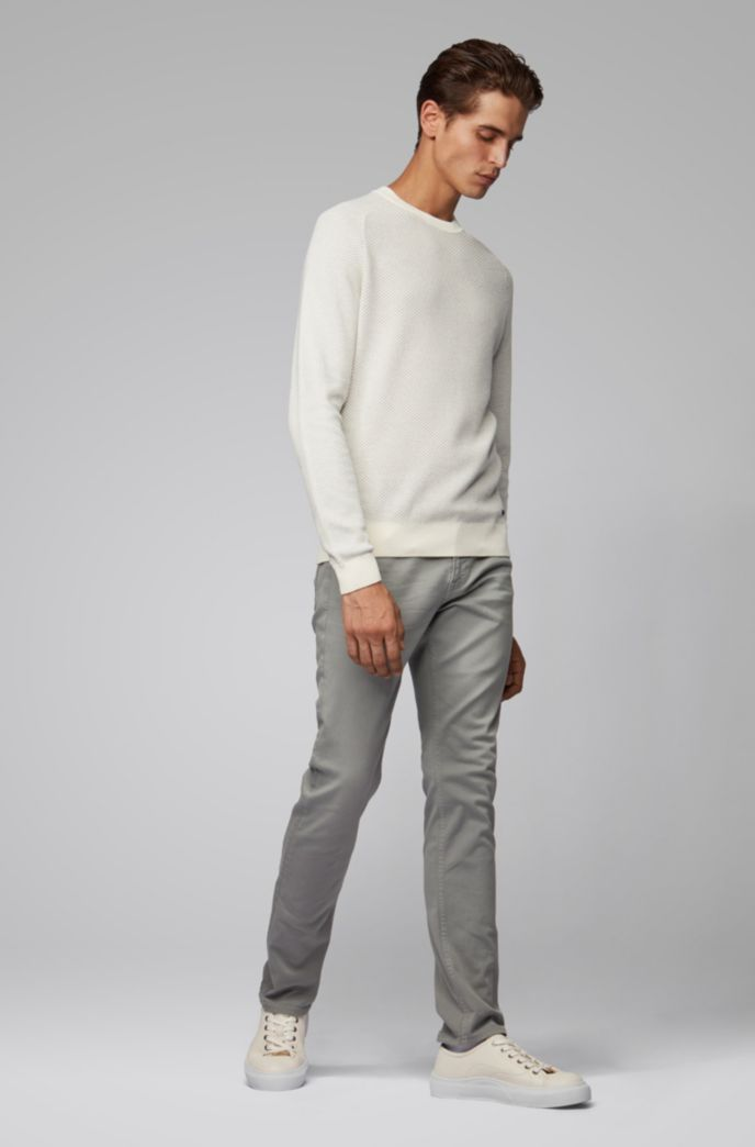 Slim-Fit Jeans aus überfärbtem Stretch-Denim