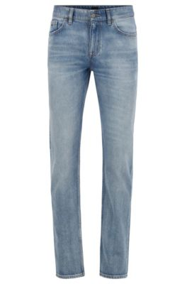 Slim-Fit Jeans aus komfortablem Stone-washed Stretch-Denim, Blau