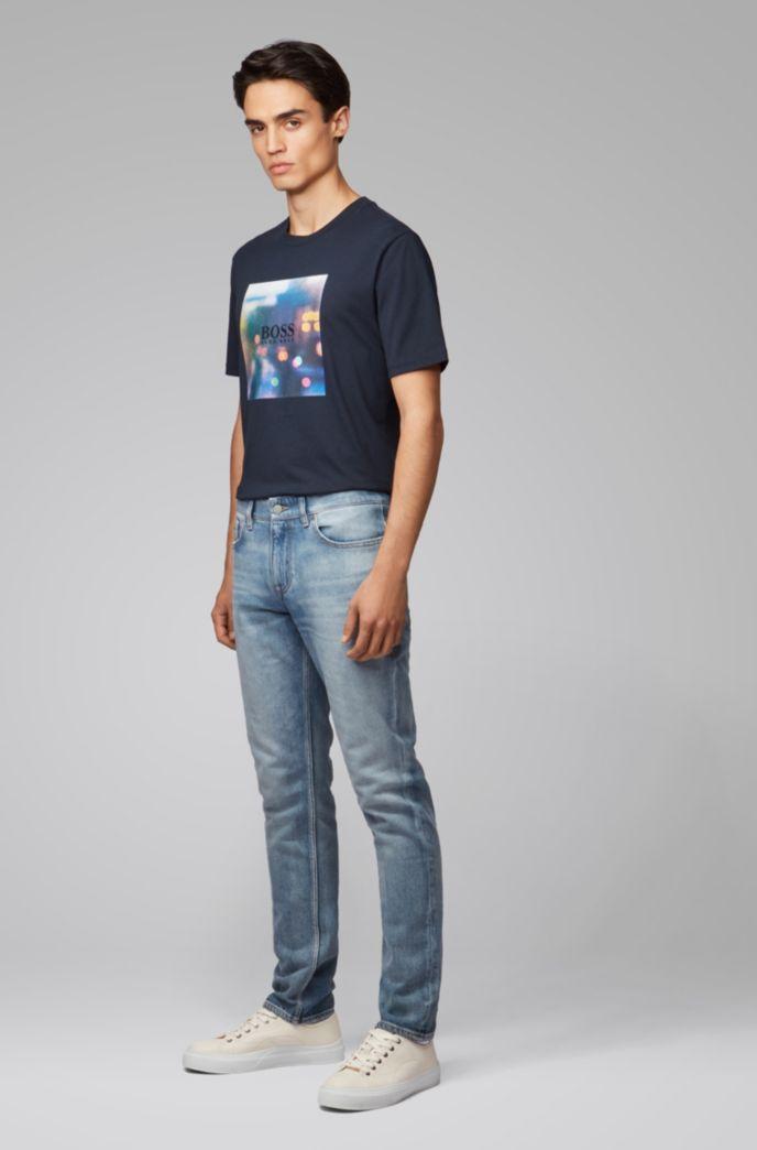 Slim-Fit Jeans aus komfortablem Stone-washed Stretch-Denim