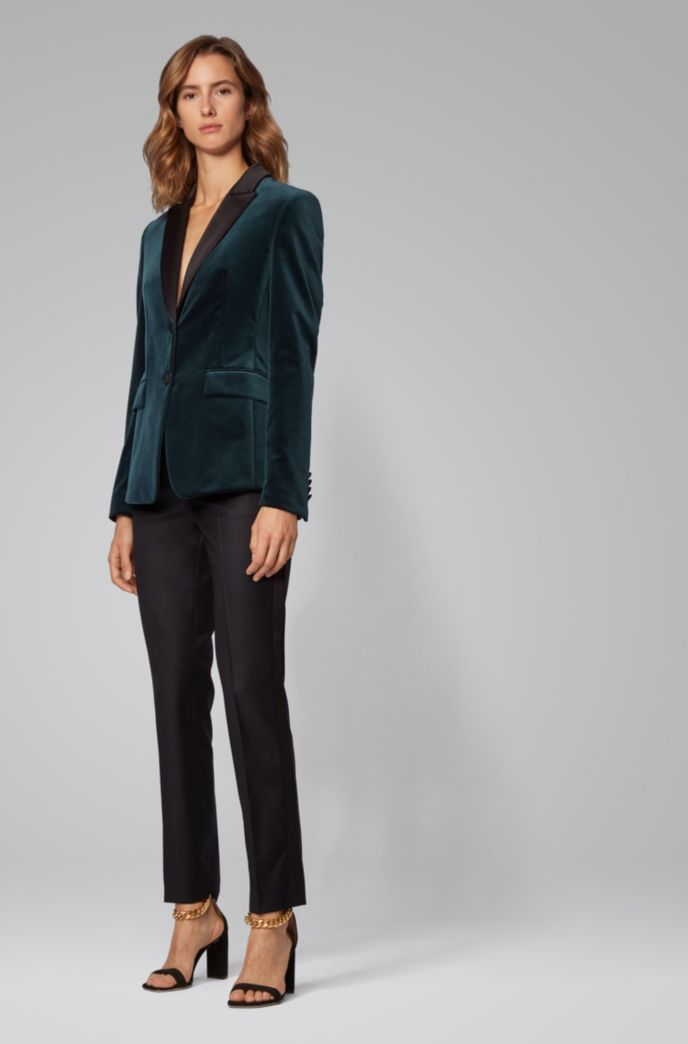 Tuxedo-inspired regular-fit jacket in Italian velvet