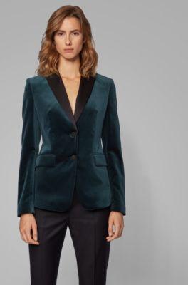 hugo boss green velvet jacket