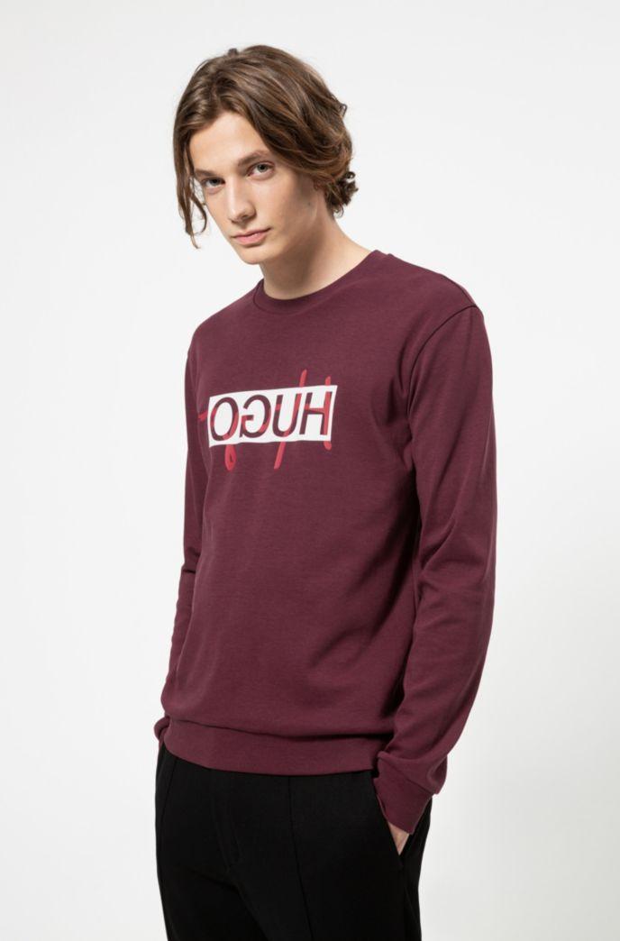 Regular-fit sweatshirt with new-season reversed logo