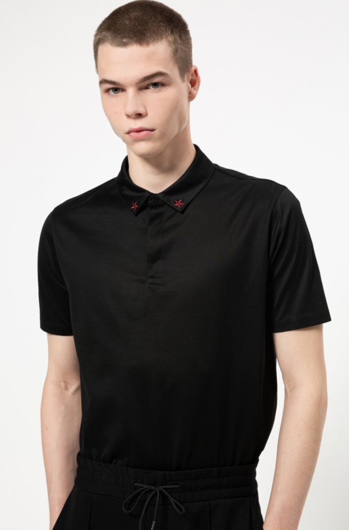 Regular-fit polo shirt in pure cotton
