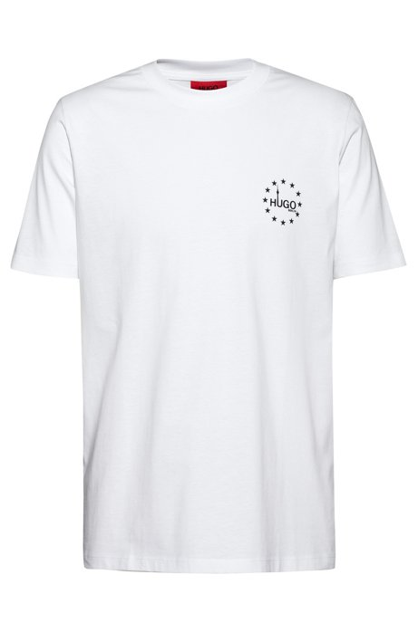 New-season logo T-shirt in recot²® cotton, White