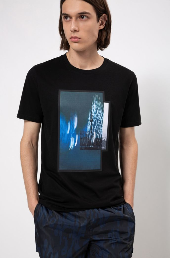T-shirt en jersey de coton à imprimé photographique Berlin