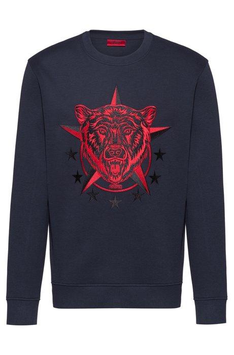 Sweatshirt mit Artwork der Kollektion, Dunkelblau