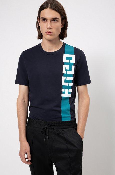 T-Shirt mit Logo im Retro-Stil, Dunkelblau