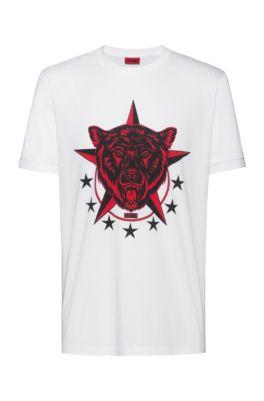 T-shirt Regular Fit avec motif artistique de la collection, Blanc