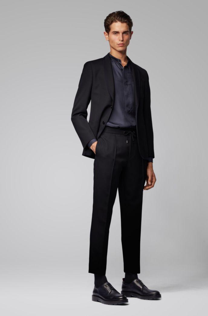 Veste Slim Fit à col châle et bordures contrastantes