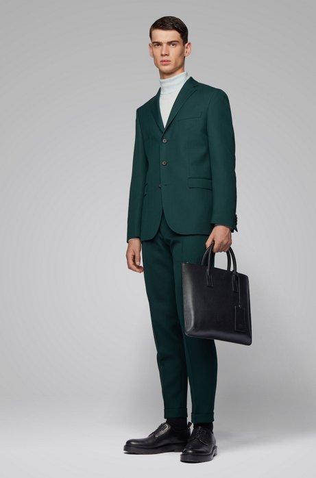 Costume Slim Fit avec veste à trois boutons, Vert sombre