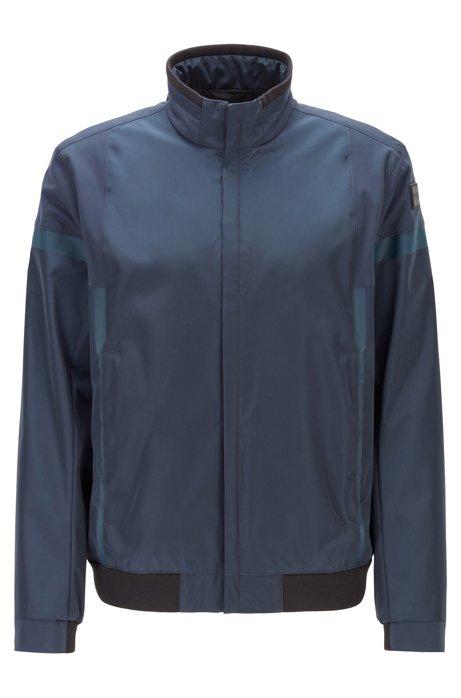 Zip-through jacket in water-repellent two-layer fabric, Dark Blue