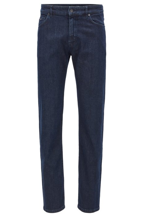 Jean Relaxed Fit en denim stretch italien, Bleu foncé