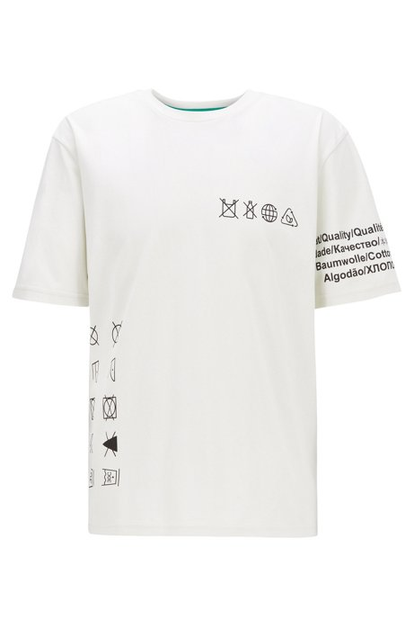 Plastic-free relaxed-fit T-shirt in pure cotton, White