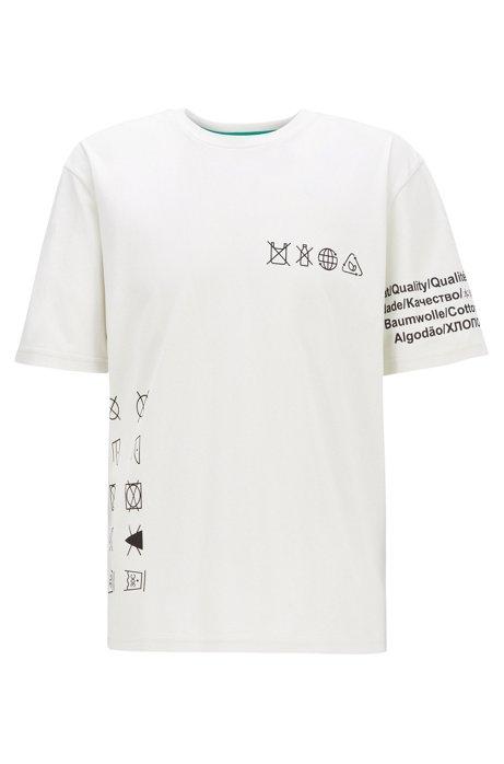Plastikfreies T-Shirt aus reiner Baumwolle, Weiß