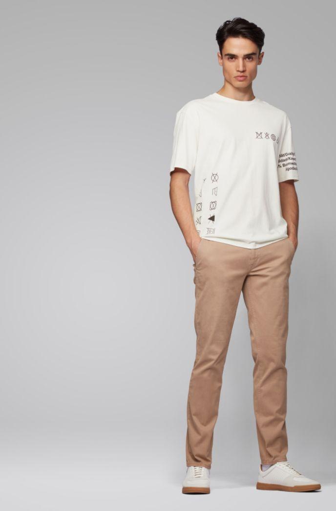 T-shirt Relaxed Fit en pur coton, sans plastique
