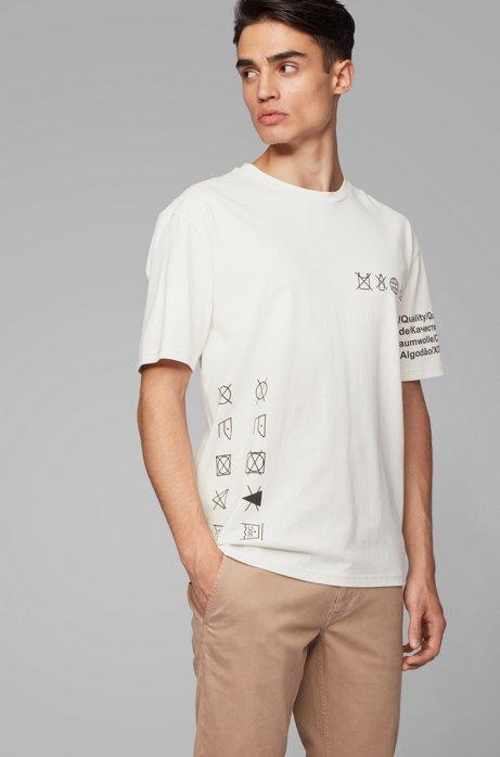 T-shirt Relaxed Fit en pur coton, sans plastique, Blanc
