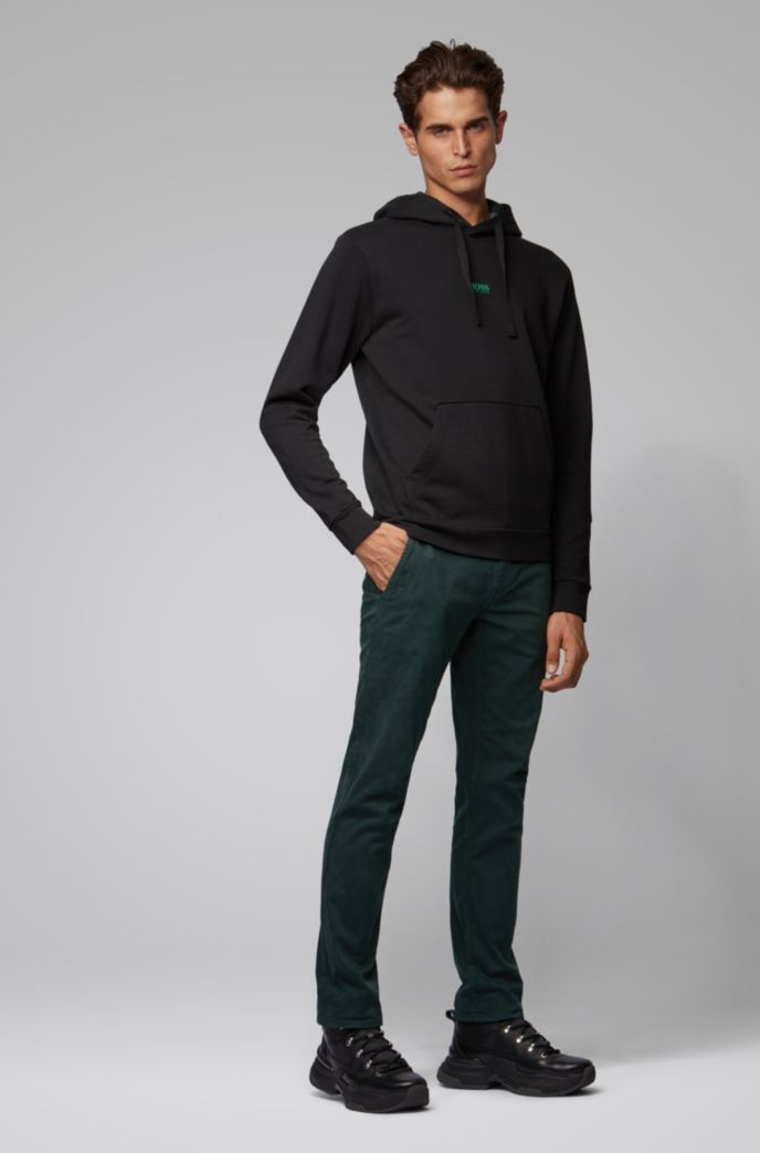 Relaxed-fit plastic-free sweatshirt with feature hood lining