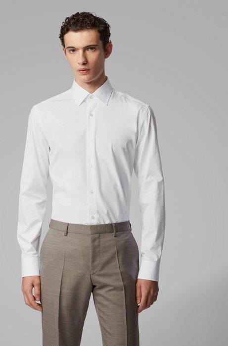 Slim-fit overhemd van Italiaanse katoen, Wit