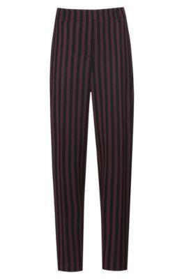 Pantalon Regular Fit en tissu stretch à rayures, Fantaisie